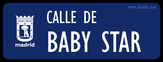 cartel_de_calle-de-BABY STAR _en_madrid